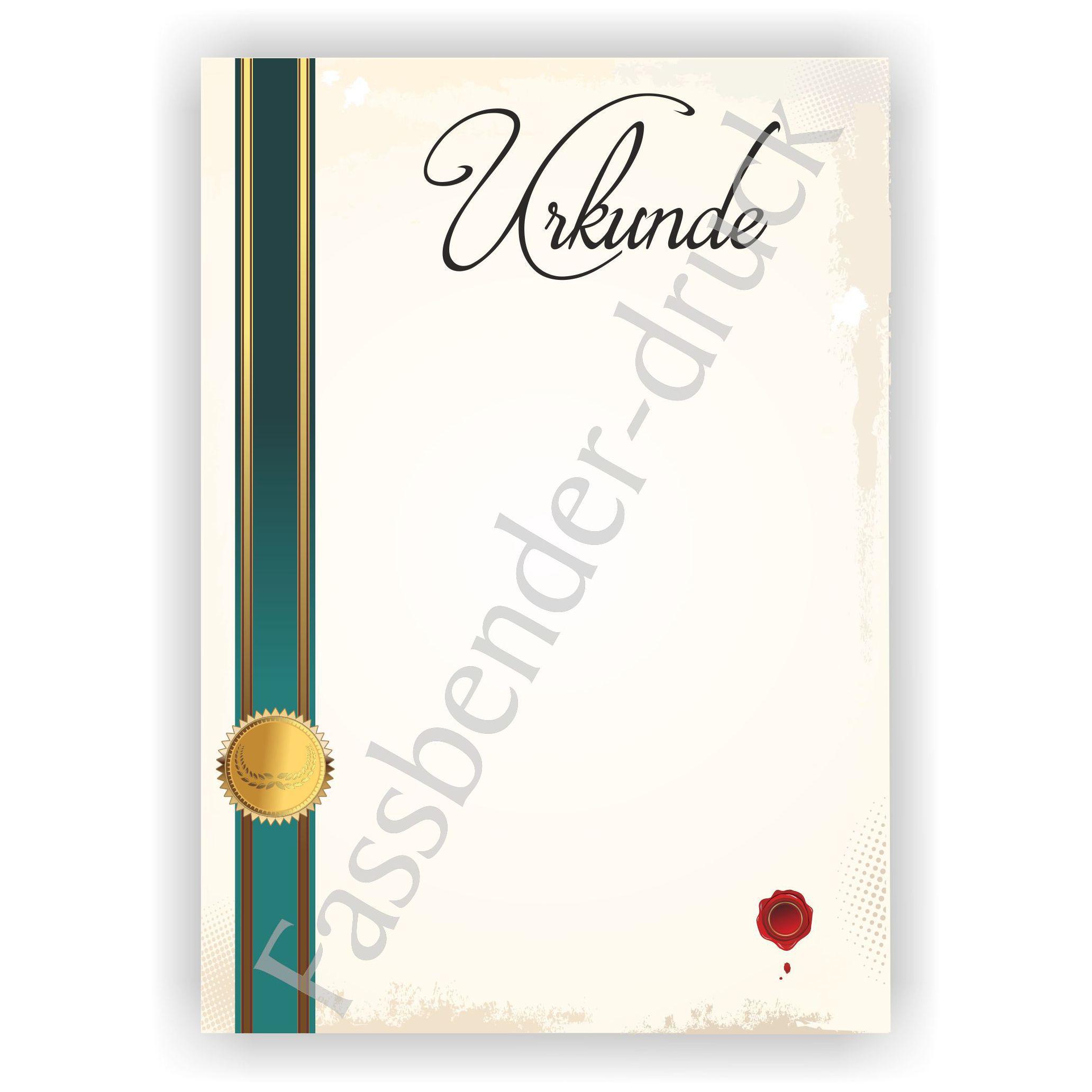 Urkunde 2 Urkundenpapier Offsetpapier I Motivpapier Designpapier I Mengenstaffel