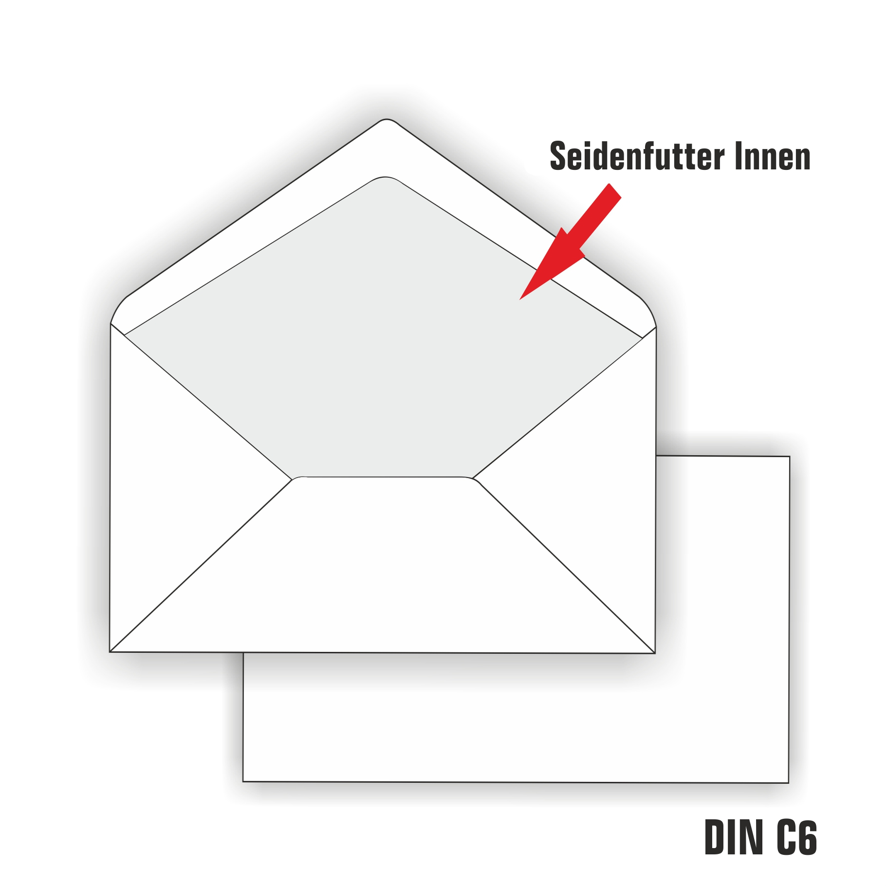 Briefumschläge Din Lang C6 Weiss Gefüttert Umschläge Futter